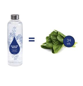 Antioxidanter i spinat sammenlignet med 1 liter Chanson vand