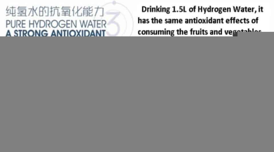 Så mange antioxidanter er der i hydrogenrigt vand